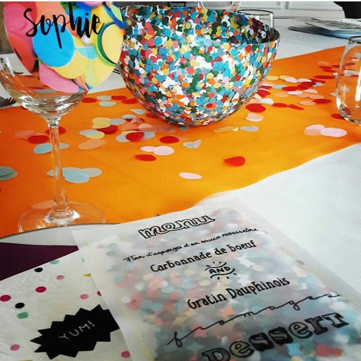 Anniversaire confettis