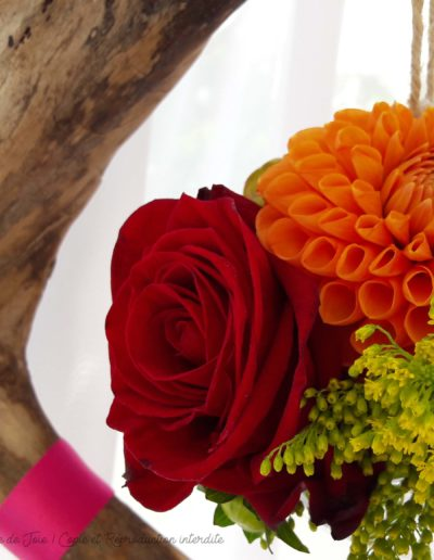 Détail de la décoration florale