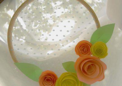 Tambour paper flower