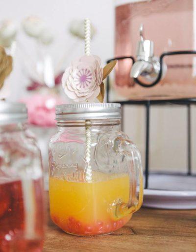 Mason jar paille paper flower