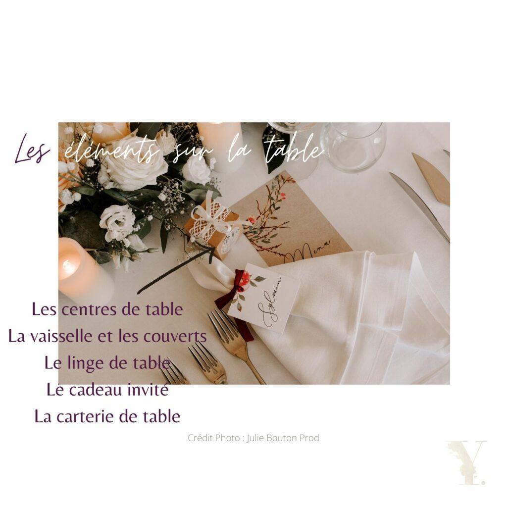 détail table de mariage raffiné youli wedding designer