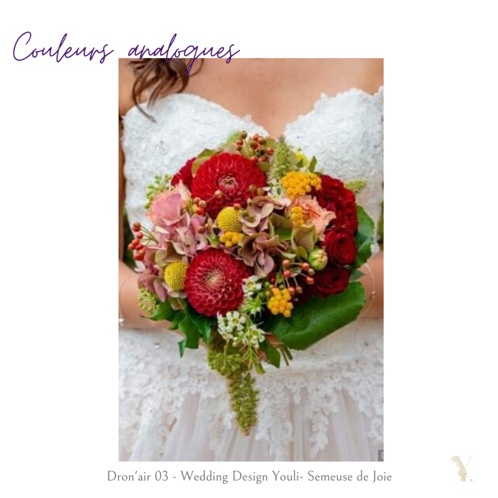 couleurs analogues mariage