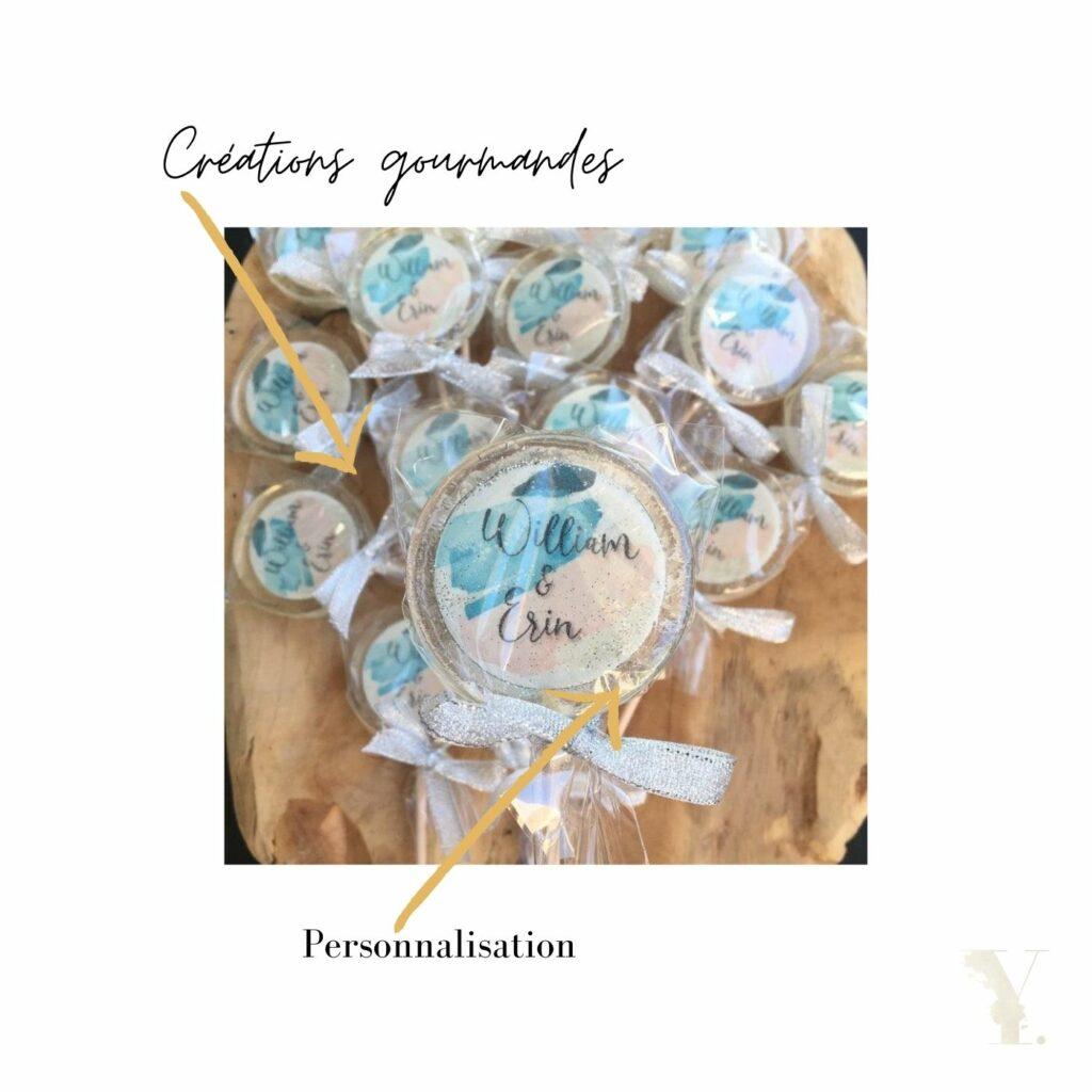 Création de sucettes à inclusion pour candy bar original : un basique du mariage