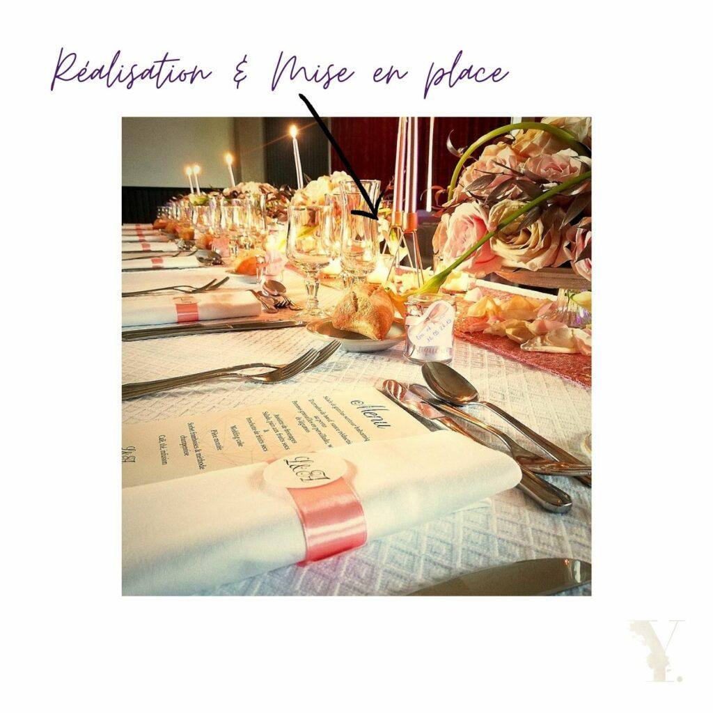 table d'honneur décoration de mariage