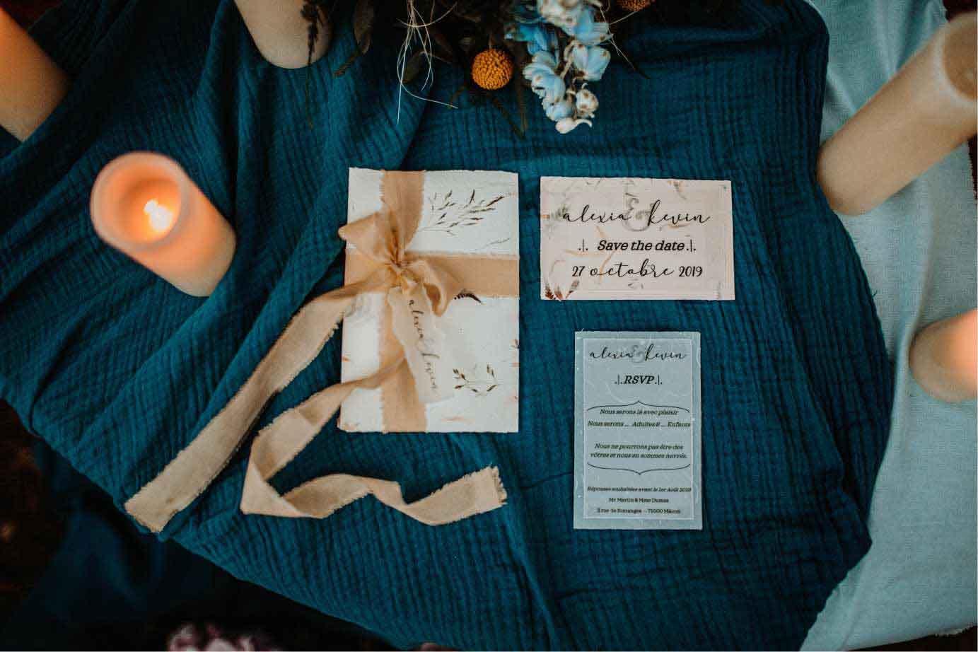 Faire-part mariage personnalisée event designer