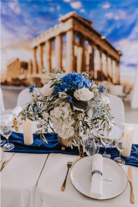 Prestation wedding design Grèce