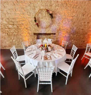 aménagement table mariage Auvergne Rhône Alpes