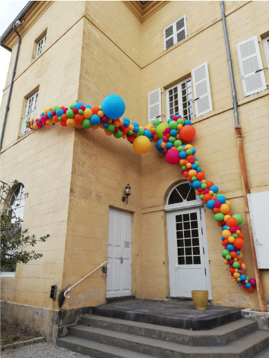 arche ballon extérieur anniversaire ADAPEI