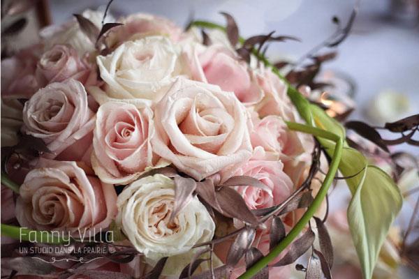 bouquet mariage rose gold blanc romantique