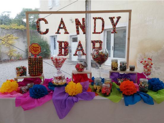 candy bar event design anniversaire association