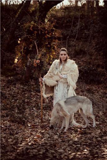 célébration mariage thème viking loup