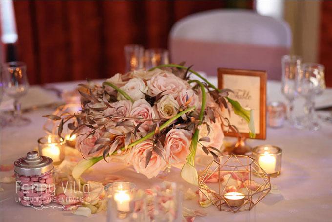 centre de table inspiration romantique Orcet