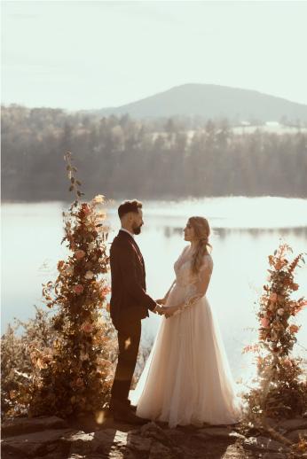 cérémonie de mariage au bord eau auvergne