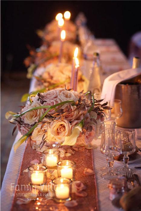 chemin de table thème romantique auvergne