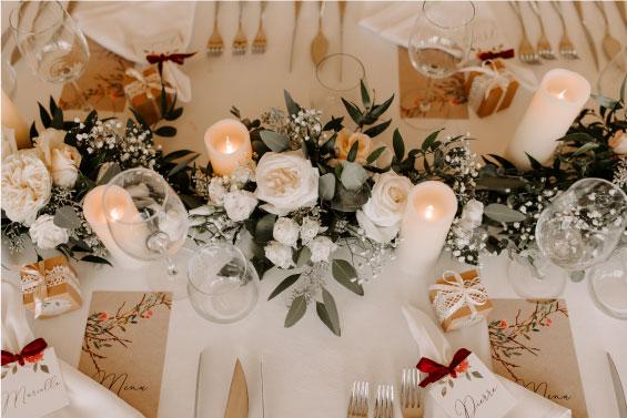 chemin table mariage végétal haut de gamme