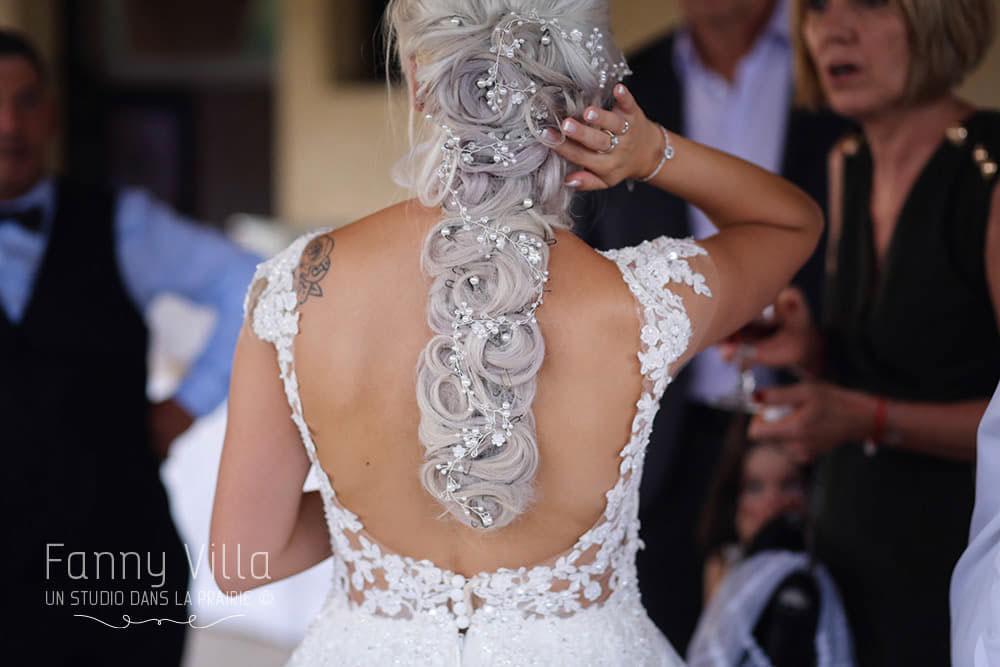 coiffure mariage perle pétillant cheveux longs