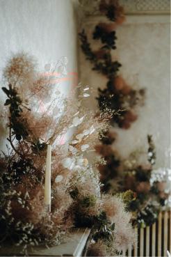 composition florale fleurs séchées