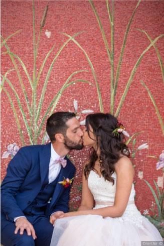 couple mariage thème folk