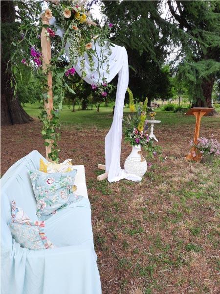 décoration extérieure mariage auvergne Rhône alpes