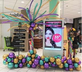 décoration galerie commerciale Clermont Ferrand