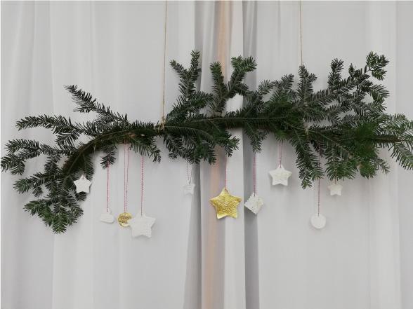 décoration photo call thème hiver