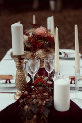 décoration table elopement auvergne