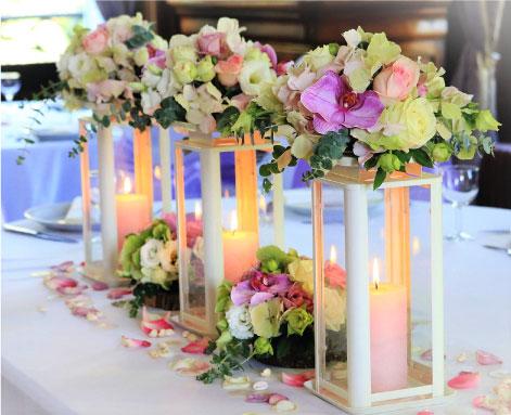 décoration table honneur mariage couleurs