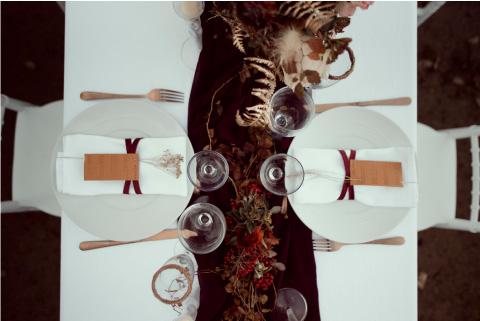 décoration table mariage couleurs automne