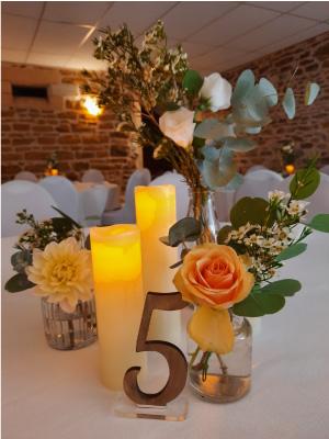 décoration table mariage Rhône-beaujolais