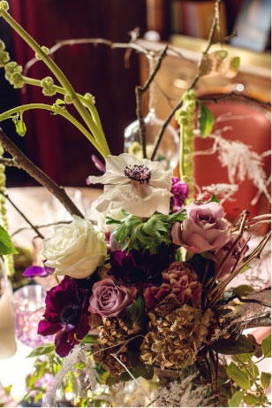design floral mariage alice au pays des merveilles