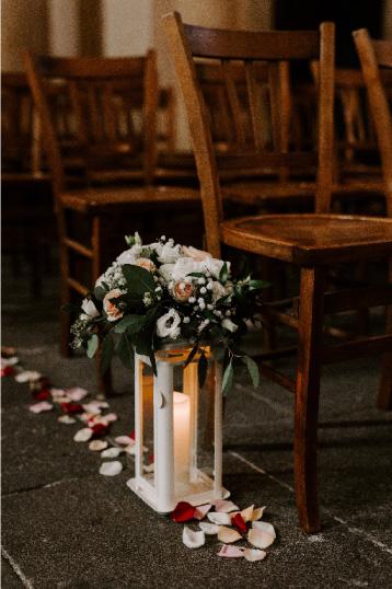 design floral mariage église