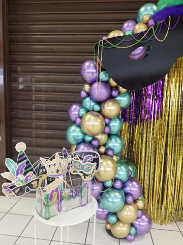détail arche décoration évènement centre commercial