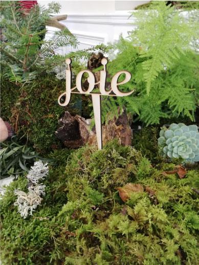 élément décoration mot joie event design