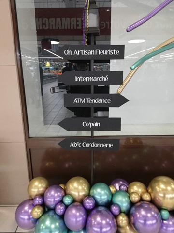 élément décoration scénographie centre commercial