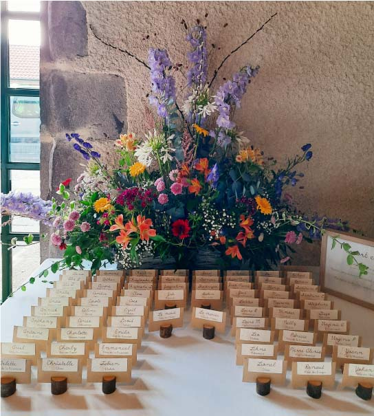 escort card mariage puy dome