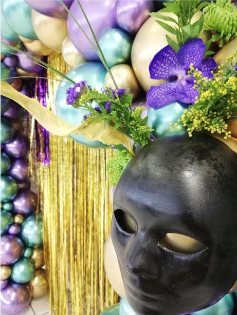 masque mardi gras event design