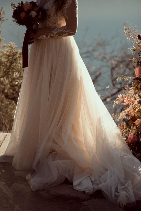 photo jeux lumière robe mariée