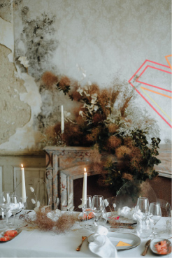 photos décoration mariage contraste