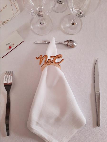 rond serviette détail scénographie mariage