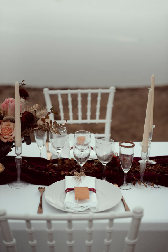 scénographie mariage table automne