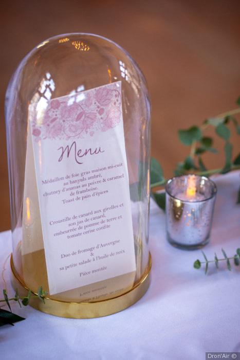scénographie menu wedding design thème folk