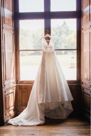scénographie raffinée robe mariée