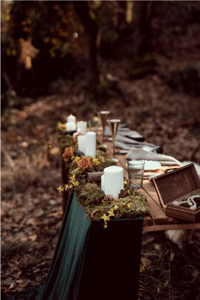 scénographie table mariage runique