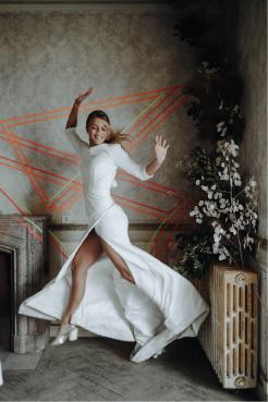 shooting robe de mariée graphique