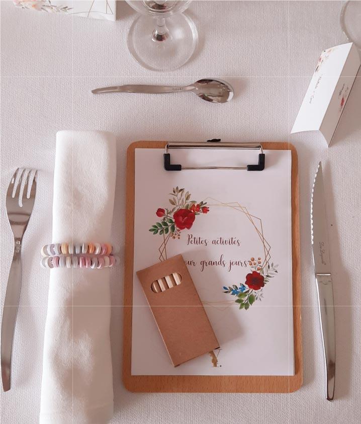 table enfant prestation wedding design