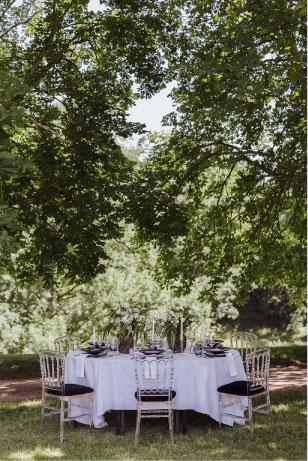 table extérieure mariage jardin