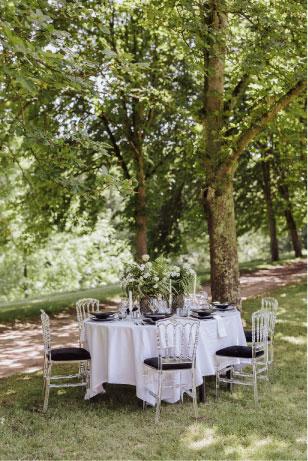 table mariage raffinée auvergne