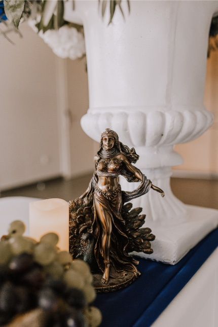 thème mariage Grèce antique détail