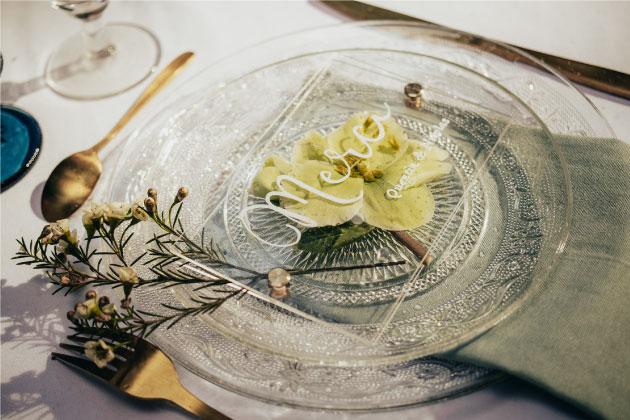 vaisselle mariage doré auvergne