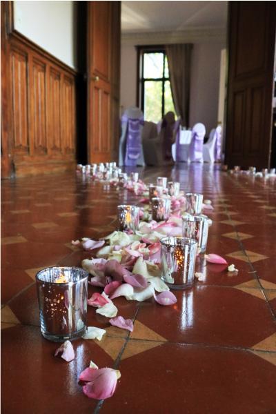 wedding design bougie couleur parme
